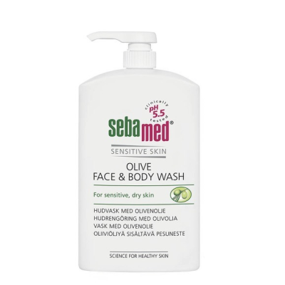 SEBAMED OLIVE FACE & BODY WASH  PUMPPUPULLO X1000 ML