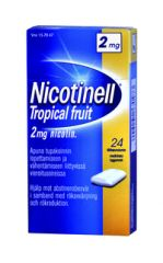 NICOTINELL TROPICAL FRUIT 2 mg lääkepurukumi 24 fol